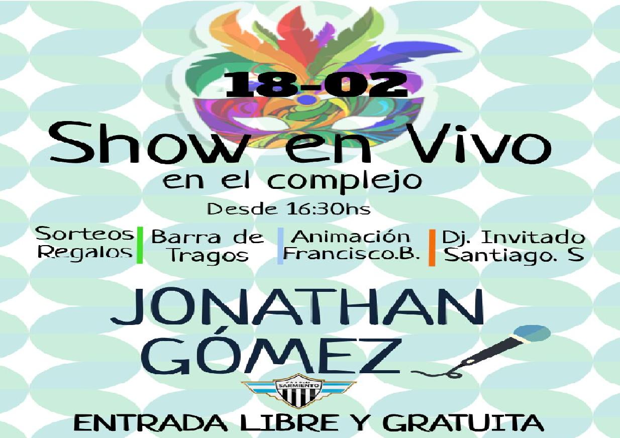 Show en vivo en el Complejo Polideportivo. - Club ...